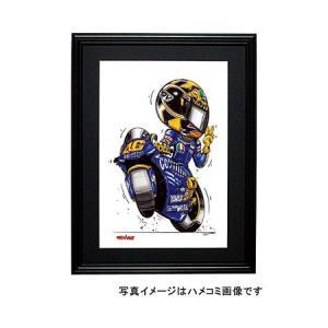 イラスト ロッシ MotoGP(2004・左向き)|motorparade