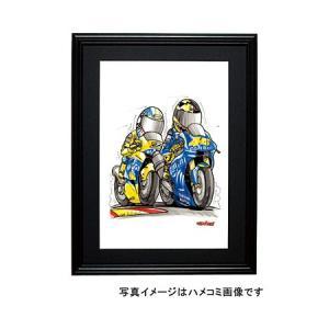 イラスト ロッシ&ビアッジ MotoGP(2004)|motorparade