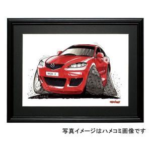 イラスト アクセラ(赤・セダン)|motorparade
