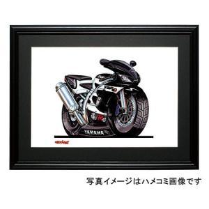 イラスト YZF-R6(黒)|motorparade