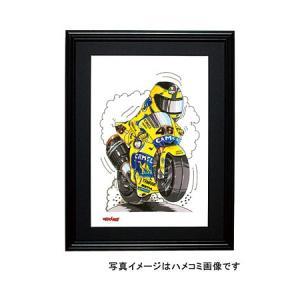 イラスト ロッシ MotoGP2006(ウィリー)|motorparade