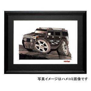 イラスト ハマーH2 SUV(黒)|motorparade