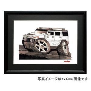 イラスト ハマーH2 SUV(白)|motorparade