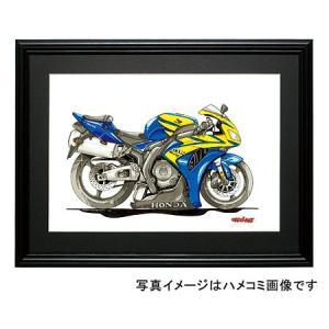 イラスト CBR1000RR Fireblade(青/黄)|motorparade