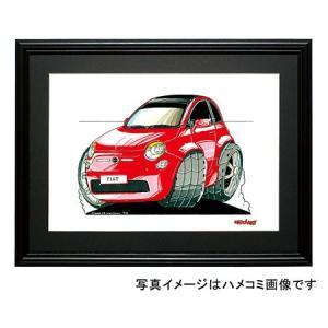 イラスト フィアット500(新型・赤)|motorparade