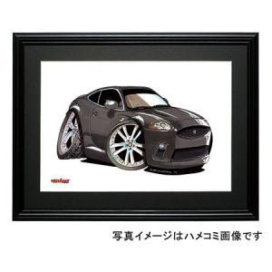 イラスト ジャガー XKR(クーペ・黒)|motorparade