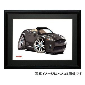 イラスト ジャガー XKR(コンバーチブル・黒|motorparade