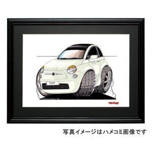 イラスト フィアット500(新型・白)|motorparade