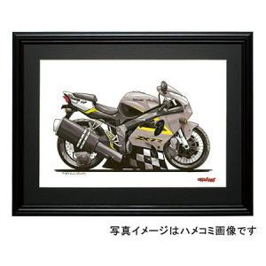 イラスト カワサキNinja ZX-7R(銀)|motorparade