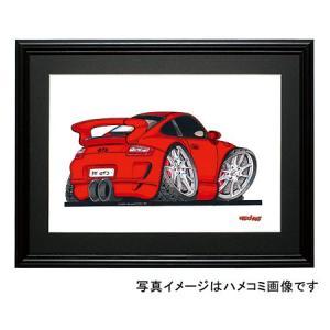 イラスト ポルシェ911GT3(997・赤) motorparade