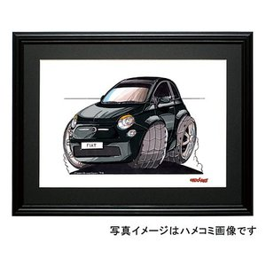 イラスト フィアット500(新型・黒)|motorparade