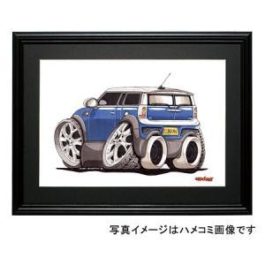 イラスト ニューミニ・クラブマン(青)|motorparade