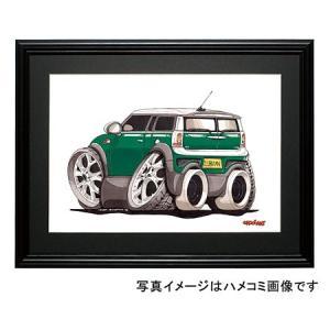 イラスト ニューミニ・クラブマン(緑)|motorparade