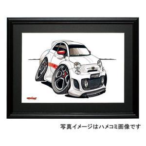 イラスト フィアット500(アバルト・前)|motorparade