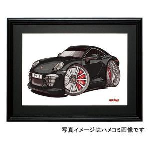 イラスト ポルシェ911カレラS(991・黒) motorparade