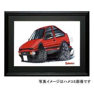 イラスト 86トレノ(3Dr・赤)|motorparade