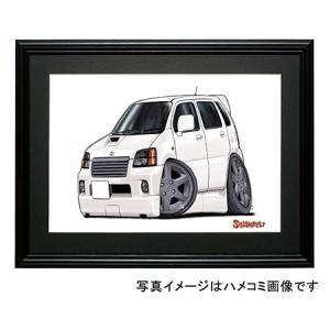 イラスト 2代目ワゴンR・RR(白)|motorparade