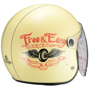 SUGAR RIDEZ Vivian Free&Easy ジェットヘルメット アイボリー レディースサイズ(56-57cm)|motostyle