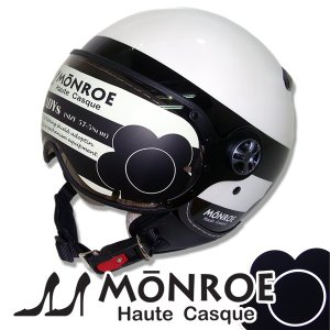 シレックス BARKIN MONROE(バーキン モンロー) レディースサイズ ジェットヘルメット パールホワイト 681668|motostyle