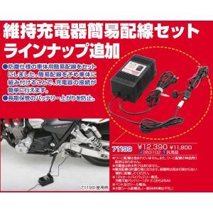 デイトナ 71199 バイク用 バッテリー維持充電器 + 防塵キャップ付き車体配線セット|motostyle|02