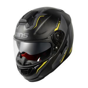 WINS(ウインズ) A-FORCE RS FLASH カーボン×ネオンイエロー フルフェイスヘルメ...