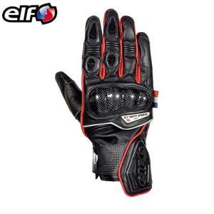 エルフ レザーグローブ(ブラック&レッド) ELG-7266