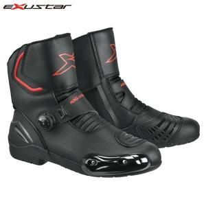 EXUSTAR(エグザスター) 防水ライディングブーツ ブラック E-SBR2141W|motostyle