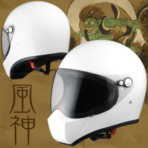 シレックス FUJIN(風神) フルフェイスヘルメット パールホワイト|motostyle