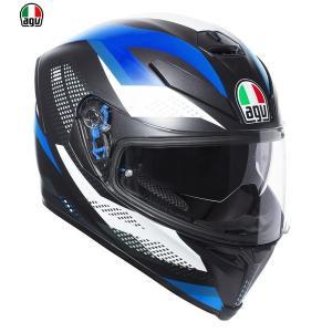 AGV K-5 S MARBLE MATT BLACK/WHITE/BLUE フルフェイスヘルメット