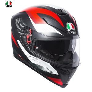 AGV K-5 S MARBLE MATT BLACK/WHITE/RED フルフェイスヘルメット