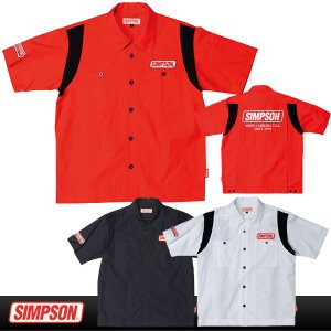 シンプソン MSH-011 メカニックシャツ(半袖)|motostyle
