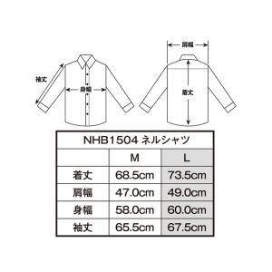HenlyBegins プロテクター対応 ネルシャツ MIX NHB-1504|motostyle|03