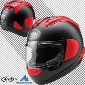 アライ RX-7X フラットブラック/レッド フルフェイスヘルメット 山城オリジナルカラー