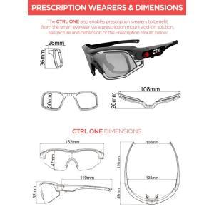 CTRL ONEに簡単に装着可能なクリップオンタイプの度付対応インナーフレームです。 視力矯正が必要...