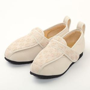 彩彩ジャガード W902 ベージュ 22.0cm マリアンヌ 屋内外用 靴