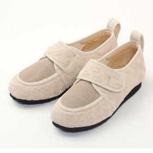 彩彩ジャガード W903 ベージュ 26.0cm マリアンヌ 屋内外用 靴