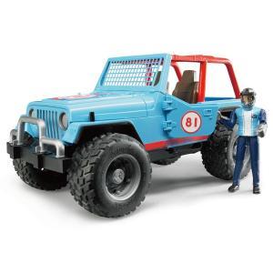 ブルーダープロ はたらくくるま Jeepクロスカントリーレーサー/BLUE(フィギュア付き/3歳から)【店頭受取も可 吹田】|mottozutto