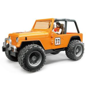 ブルーダープロ はたらくくるま Jeepクロスカントリーレーサー/ORANGE(フィギュア付き/3歳から)【店頭受取も可 吹田】|mottozutto