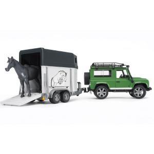 ブルーダープロ はたらくくるま Land Rover Def.ワゴン & 馬牽引トレーラー(3歳から)【店頭受取も可 吹田】|mottozutto