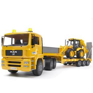 ブルーダープロ はたらくくるま MANトラック&JCB 4CXバックホーローダー(3歳から)【店頭受取も可 吹田】|mottozutto