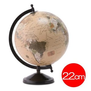 地球儀 アンティークグローブ 22cm球 ホワイト mottozutto