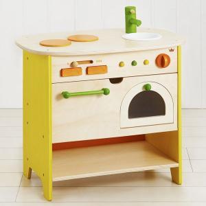 木製のままごとキッチン 森のアイランドキッチン(3歳から)|mottozutto