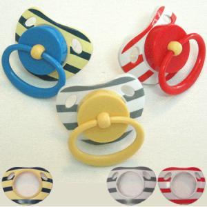 ジーノ GINO  着せ替えおしゃぶり専用の着せ替えパーツ ボーダー柄3枚|mottozutto