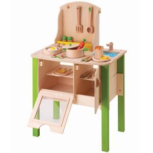 木製のままごとキッチン マイ クリエイティブ クッカリー クラブ(3歳から)|mottozutto