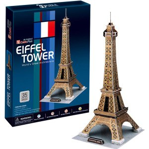 3D PUZZLE 3D立体パズル エッフェル塔(35ピースでつくる世界遺産:フランス/6歳から) mottozutto