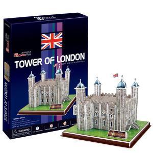 3D PUZZLE 3D立体パズル ロンドン塔(40ピースでつくる世界遺産:イギリス/6歳から) mottozutto
