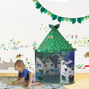 キッズテント ABC tent & Leaf Flag(室内専用キッズテントとフラッグ/3歳から)|mottozutto