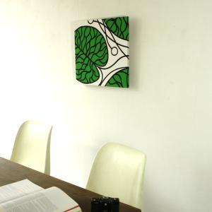 ファブリックパネル マリメッコ marimekko BOTTNA/GREEN 50×50cm|mottozutto