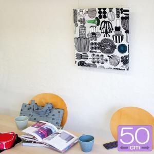 ファブリックパネル マリメッコ marimekko PUUTARHURIN PARHAAT(プータルフリンパルハート)/WHITE 50×50cm|mottozutto