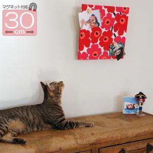 ファブリックパネル【マグネット対応】 マリメッコ marimekko MINI UNIKKO(ミニ ウニッコ)/RED 30×30cm|mottozutto